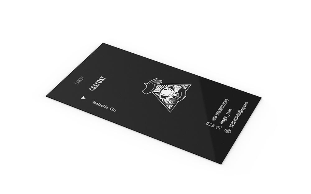 Business card design for a tarot studio - Yajie Zhai